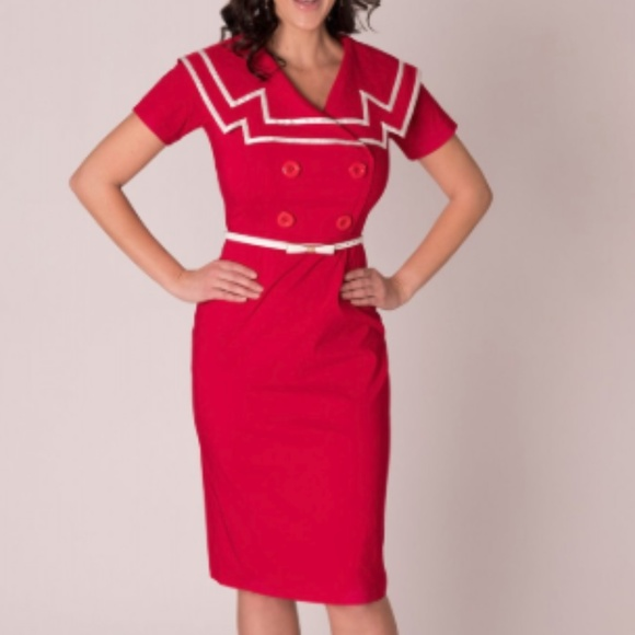 Captain Circle Red Bettie Page By Tatyana